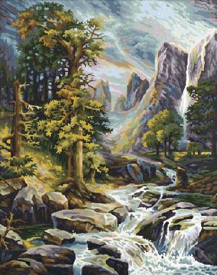 Malen nach Zahlen Bild Im Hochgebirge - 609130430 von Schipper