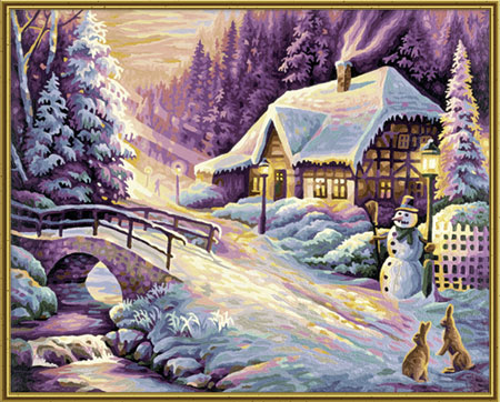 Malen nach Zahlen Bild Der Winter - 609130504 von Schipper
