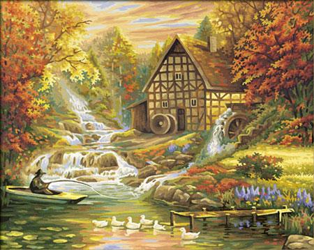 Malen nach Zahlen Bild Der Herbst - 609130507 von Schipper