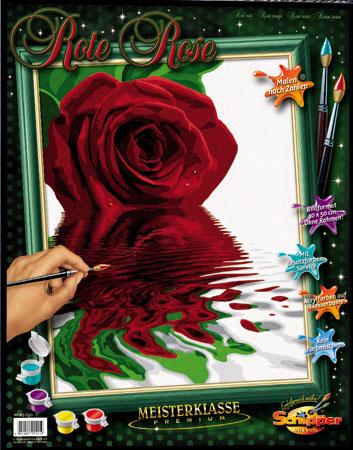 Malen nach Zahlen Bild Rote Rose - 609130521 von Schipper