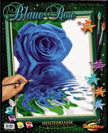 blaue rose von schipper 609130522 kaufen bei kreativ. Black Bedroom Furniture Sets. Home Design Ideas