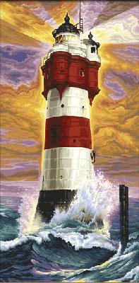 Malen nach Zahlen Bild Leuchtturm Roter Sand - 609220399 von Schipper