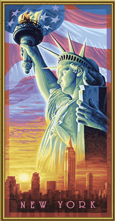 Malen nach Zahlen Bild Die Freiheitsstatue - 609220496 von Schipper