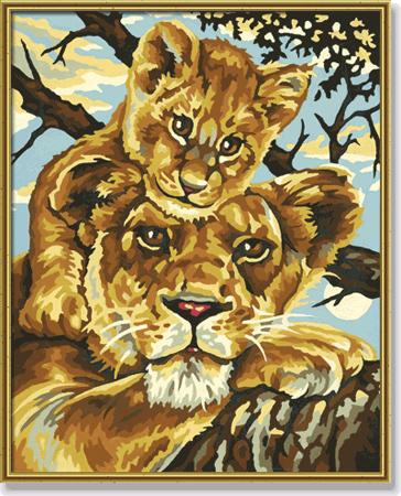 Malen nach Zahlen Bild Löwenmutter - 609240383 von Schipper