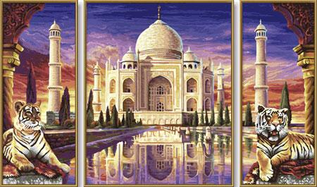 Malen nach Zahlen Bild Taj Mahal - Triptychon - 609260435 von Schipper