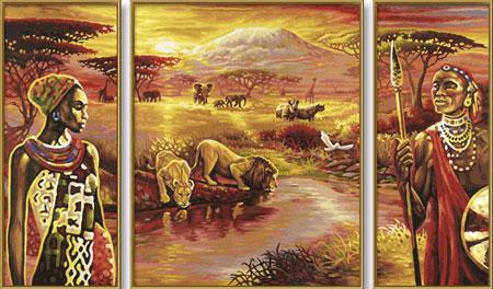 Malen nach Zahlen Bild Am Kilimandscharo - 609260438 von Schipper