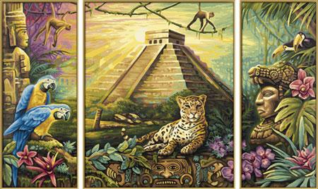 Malen nach Zahlen Bild Maya Pyramide - 609260486 von Schipper