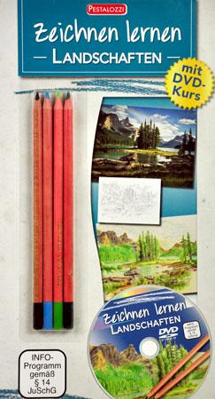 Malen nach Zahlen Bild Zeichnen lernen - Landschaften - mit Lern-DVD - 138430 von Sonstiger Hersteller