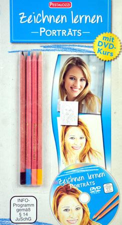 Malen nach Zahlen Bild Zeichnen lernen - Porträts - mit Lern-DVD - 138432 von Sonstiger Hersteller
